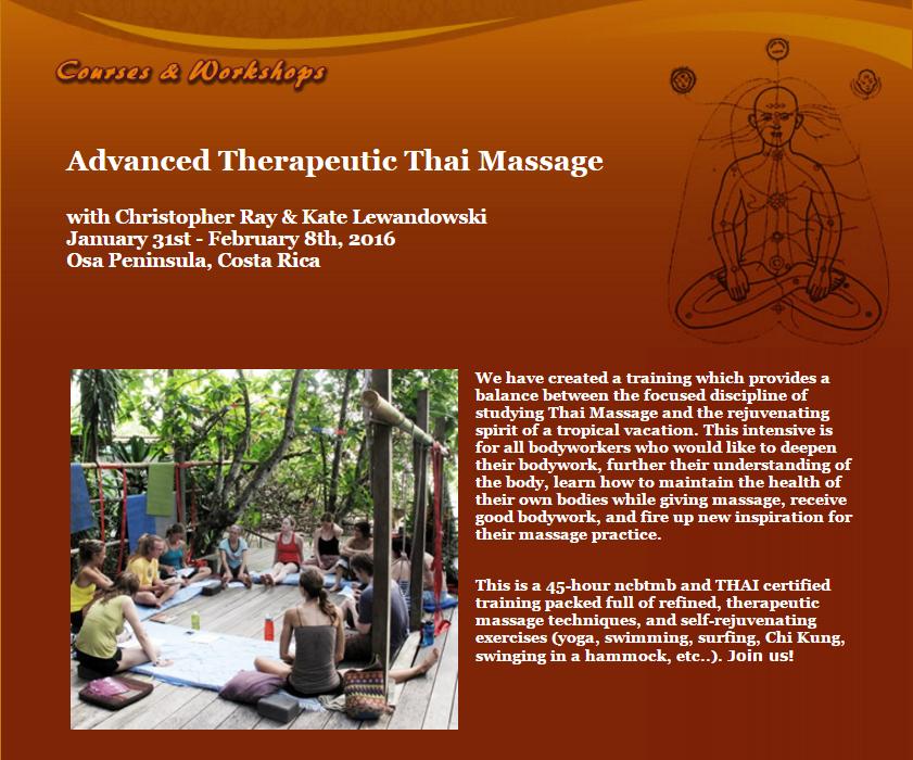 Advanced Therapeutic Thai Massage