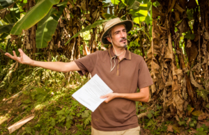 Eric Baudry at Fuente Verde on the Sustainable Living Expedition with Upward Spirals in Costa Rica (7)